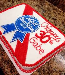 pabst blue ribbon cake google search cake creations