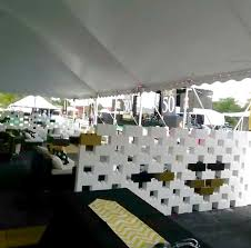 interlocking plastic blocks to create all types of event decor and