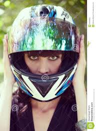 ladies motorcycle helmet the in the motorcycle helmet royalty free stock image image