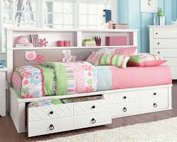 White Wood Daybed With Trundle Bedroom Endearing Full Size Daybed With Trundle White Wooden