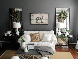 diy livingroom picture between glass windows on the gray wall combined with