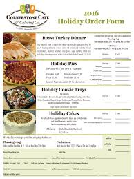 order thanksgiving cornerstone cafe u0026 catering holiday catering u0026 desserts