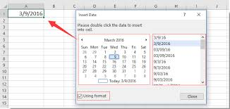how to create a drop down list calendar in excel