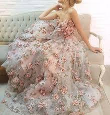 pink embroidered wedding dress 1 yard lace fabric ivory organza 3d pink chiffon floral
