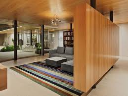 modern cabin designs partition wall interior design wood