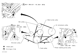 Nissan Altima 1999 - 1999 nissan altima serpentine belt routing and timing belt diagrams