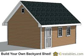 Backyard Shed Ideas 16 20 Storage Building Backyard Shed Plans End Elevation Backyard