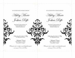 Damask Wedding Invitations Mislay U0027s Blog The Black And White Damask Wedding Invitation