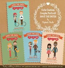 custom save the dates new custom portrait wedding save the date cards