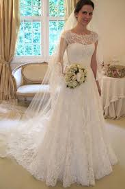 bridal dresses with sleeves cap sleeve lace a line wedding dresses 2017 custom wedding