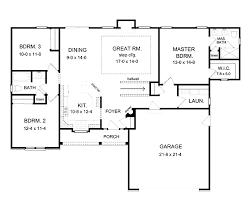 1 story open floor plans plans basement floor open house one story house plans 84923