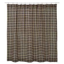 Check Shower Curtain Primitive Burlap Black Check Shower Curtain Country Shoppe