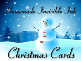 ink news how to make homemade invisible ink christmas cards