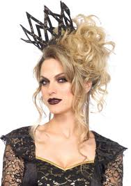 evil queen black crown black lace crown costume accessory