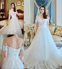 discount modest plus size off shoulder wedding dresses 2017 a line