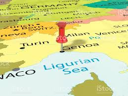 Map Of Genoa Italy by Pushpin On Genoa Map Stock Photo 697317368 Istock