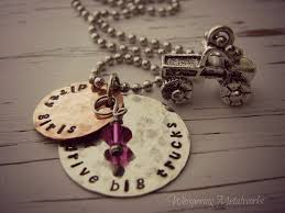 monster truck show redmond oregon dirty girls drive big trucks necklace metal stamped silver