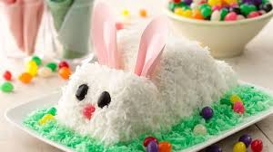 easter desserts easter bunny cake recipe bettycrocker com