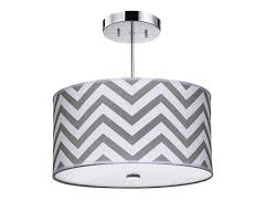 Kids Lighting Firefly Kids Lighting Grey Chevron Light Fixture Amazon Ca