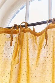 Mustard Curtain Swiss Dot Curtain Urban Outfitters