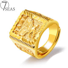men gold ring design 7seas 2017 new design stainless steel weeding rings gold color