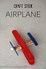 craft stick airplane and craft kits for charity blissful