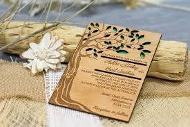 tree wedding invitation wooden forest invitation laser cut