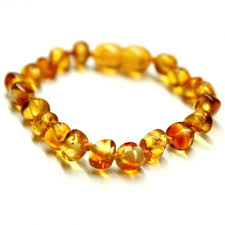 natural amber bracelet images Polished baroque style honey baltic amber teething bracelet anklet JPG