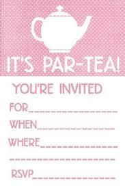 Kitchen Tea Invites Ideas Free Printable Tea Party Invitation Communication Pinterest