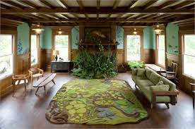themed living room ideas theme living room idea with forest rug from angela