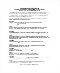 Examples Of Resumes Resume Template Job Objective Statement by Examples Of Resume Objective Statements Resume Objective Example