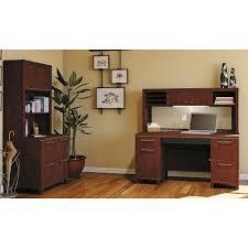 Double Pedestal Desk With Hutch by Amazon Com Bush Business Furniture Enterprise Double Pedestal