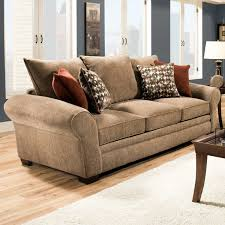 Pillow Back Sofas by Awesome Brown Leather Sofas And Pillows With White Wodoen Frame
