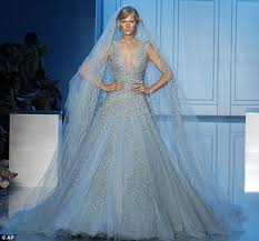 blue wedding dresses bridal gowns with bling bravobride