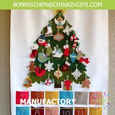 felt advent calendar with individual ornaments decorative door