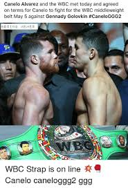 canelo alvarez and the wbc met today and agreed on terms for canelo