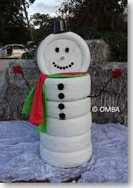 creative ideas diy adorable snowman decor from tires