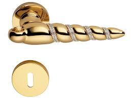 Brass Door Handles Fish Crystal Door Handle With Lock By Linea Cali U0027 Design Dmitry