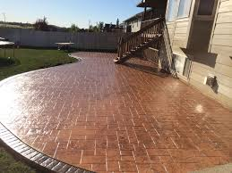 Stamped Concrete Patio Designs Pictures by Stylish Stamped Concrete Patio Colors As Idea And Tips Anyone