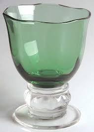 gorham serenade gorham serenade green dof fashioned glasses
