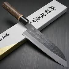 kitchen knives japanese japanese mutsumi hinoura hammered white shirogami 2 santoku