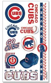 amazon com chicago cubs mlb temporary tattoos 10 tattoos