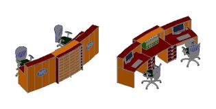 Reception Desk Cad Block Cad Forum Block Model Reception Desk 3d Tables