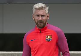 Lionel Messi Halloween Costume Lionel Messi U0027s Blond Hair July 2016 Popsugar Latina