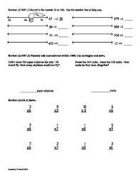 3 oa 8 u0026 3 oa 9 3rd grade common core math worksheets sample by