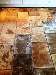 Kitchen Tiles India Cleaning And Sealing Indian Fossil Sandstone Floor Tiles Stone