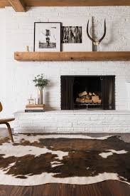 interior interesting cowhide rugs for living room design with