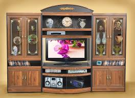 wooden wall units and stylish entertainment centers are available