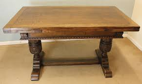 antique draw leaf table oak refectory draw leaf dining table 351302 sellingantiques co uk