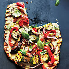 cooking light vegan recipes grilled vegetable and fontina pizza recipe by cooking light
